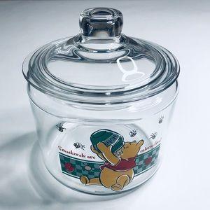 Disney Vintage Winnie the Pooh Glass Cookie Jar